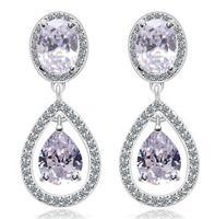 new sweet korean style round trendy rhinestone earring for women earings fashion jewelry crystal earring A314