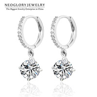 Neoglory AAA CZ Zircon Stone Nickel free Wedding Drop Dangle Earrings for Women Engagement Jewelry Accessories 2014 New Charm