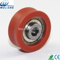 China v groove roller pulley 608z sliding door hanging pulleys 8*30*11mm