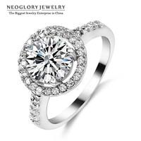 Neoglory AAA Zircon Nickel Free Engegement Charm Wedding Rings for Women Jewelry Accessories Brand 2014 New Romantic Gift JS12