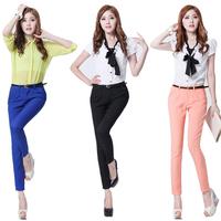 women's suit western-style trousers female fashion slim harem pants casual,plus size