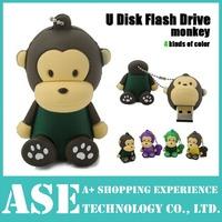 Free shipping pen drive lovely monkey 4gb/8gb16gb/32gb bulk usb flash drive flash memory stick pendrive min