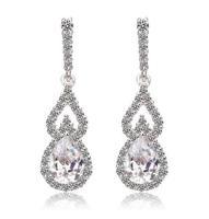 new design party item water drop sliver earring rhinestone earring for women earings fashion jewelry crystal earring A312