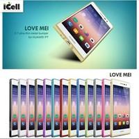 Original Love Mei Ultra-thin 0.7mm Slim aluminum Bumper Metal Frame Case For Huawei Ascend P7 ,+Retail MOQ:1PCS free shipping