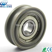 China POM U type 608zz plastic bearing rollers for sliding wardrobes 8x30x10mm