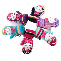 child baby gloves toweled super warm super wear-resistant Cute Bunny cartoon