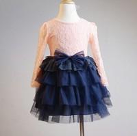 5pieces/lot, Autumn Baby Girls Dress Children lace cake Dresses,, A-ql-017