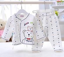Retail children's Clothing Sets Pajamas Sleepwear panda tigger cartoon baby Girl boy's suit sets 100% Cotton 0-1 Free shipping(China (Mainland))