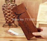handmade New Retro Wooden Pen Pencil Case Eiffel Tower Holder Stationery Box Storage