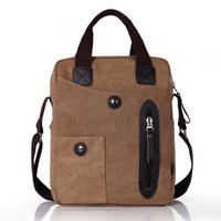 2014 new Korean men business bag casual canvas tote shoulder and messenger bag