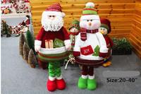 Free shipping 110cm Factory direct sale telescopic Santa snowman Spell it fabric Christmas ornament cloth art scene