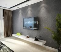 Modern brief non-woven wallpaper 3d beijingqiang wallpaper tv wall tv background wallpaper