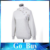 Free shipping 610229 hot cakes Han edition sports leisure hooded fleece a pullover of big yards