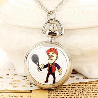 Silver Pocket Watch Necklace For Women New Reloj De Bolsillo Dress Steampunk Wholesale Dropship