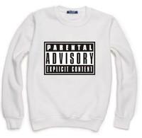 PARENTAL ADVISORY EXPLICIT Sweatshirt For Men Women Flocking Lady Casual Fleece Hoody Pullover Thick Warm Winter XXXL ZY053-22