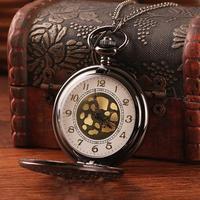 2014 New dropship top quality alloy engraved hollow design antique bronze with long chain quartz women pendant watches