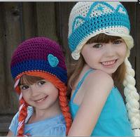 Hats Winter Princess Hand-knit Wool cap children warm hat knitted hat
