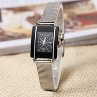 Fashion personality mesh belt couple watches  Analog full steel case Casual Watches quartz watch women's  lover's watch