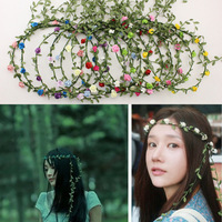 Bridal bridesmaid paper garlands garlands seaside photo props for children hair jewelry party