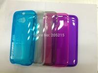 High quality ,transparent tpu Case for HTC one M8 wholesale 1000pcs/lot