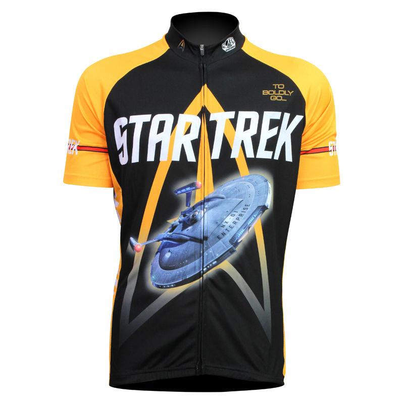 New Mens Cycling Jersey Comfortable Bike/Bicycle Shirt star trek Alien SportsWear TO BOLDLY GO LOGOcyclingclothing Size 2XS-5XL(China (Mainland))