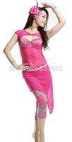 Milk silk print belly dance costume belly dance skirt Very Comfortable Practice Costume  3 Pieces bra pant skirt