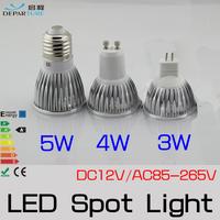 10pcs/lot High Brightness 3W / 5W / 7W LED COB SpotLight Bulb GU10 Base White / Warm White DC12V/AC85-265V  Energy saving