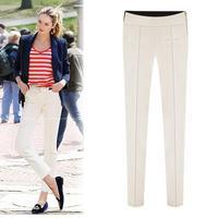 Women pants Stitching Leggings 2014 New Slim waist pants feet of thin Korean version of the trend