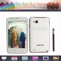 "Original Santin free shipping X5W 5.0""inch CapacitiveScreen 8MP 3G Android 4.1 Smartphone Dual camera 4GB ROM + 1G RAM"