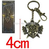 50pcs/lot The Legend of Zelda Twilight Princess cool Pendant Keychain Metal Figures Key Ring