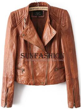2014 Женщины Brand Jaqueta De Couro FeМиниna Хаки Faux Soft Pu Leather Длинный Рукав ...
