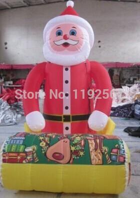 Infatable Santa Claus balloon good price(China (Mainland))