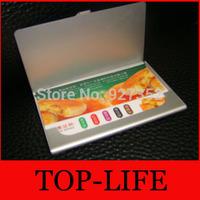Wholesale 500pcs/lot METAL POCKET BUSINESS ID CREDIT CARD HOLDER CASE -Fedex &DHL Free Shipping