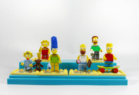 2014 Cute Mini The Simpsons  Action Figures 6PCS/Set  PVC The Simpsons  Building Block Collections Best Gift  Free Shipping