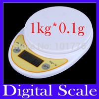 Free shipping 1KG Digital Portable Platform Scale  without bowl 1kg 0.1g, digital scale, kitchen scale ,MOQ=1