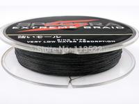 4 strands PE Dyneema Braided Fishing Line 300M Black 8LB 0.10mm Spectra 328 Yard Braid fishing line