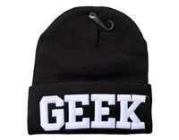Fashion hip hop 3D GEEK Beanie hat winter knitted beanie caps and hats for man and women,HT0175