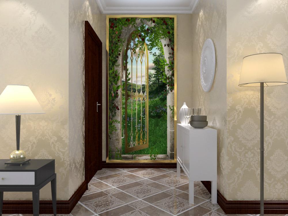 Door wallpaper murals promotion online shopping for for Door wallpaper mural
