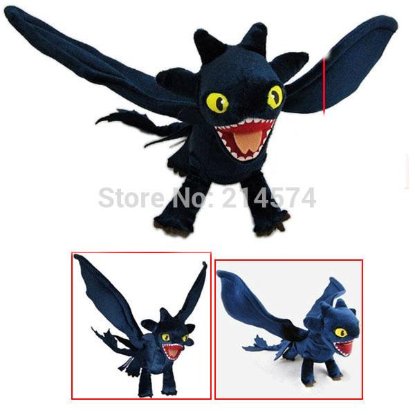 49cm Night Fury Toothless Toy How to Train Your Dragon 2 Plush Toys Stuffed Animals & Plush Boneca Brinquedos Kids(China (Mainland))