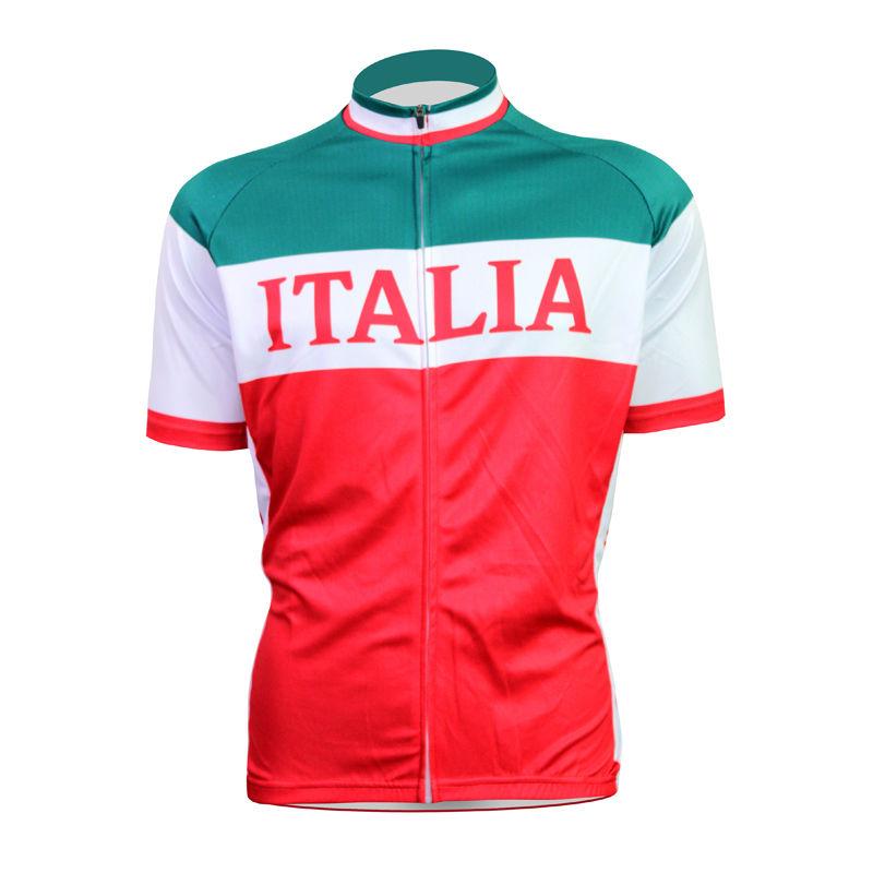 Italian Sportswear Logo Shirt Italian Flag Logo
