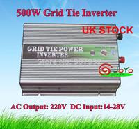 500w Grid Tie Power Inverter(500 watt, 14-28V DC input, 220V AC output, high quality, free shipping) UK STOCK