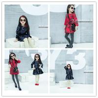Top On Top wholesale Korean girls short paragraph letter raglan sweater + skirt suit children suit
