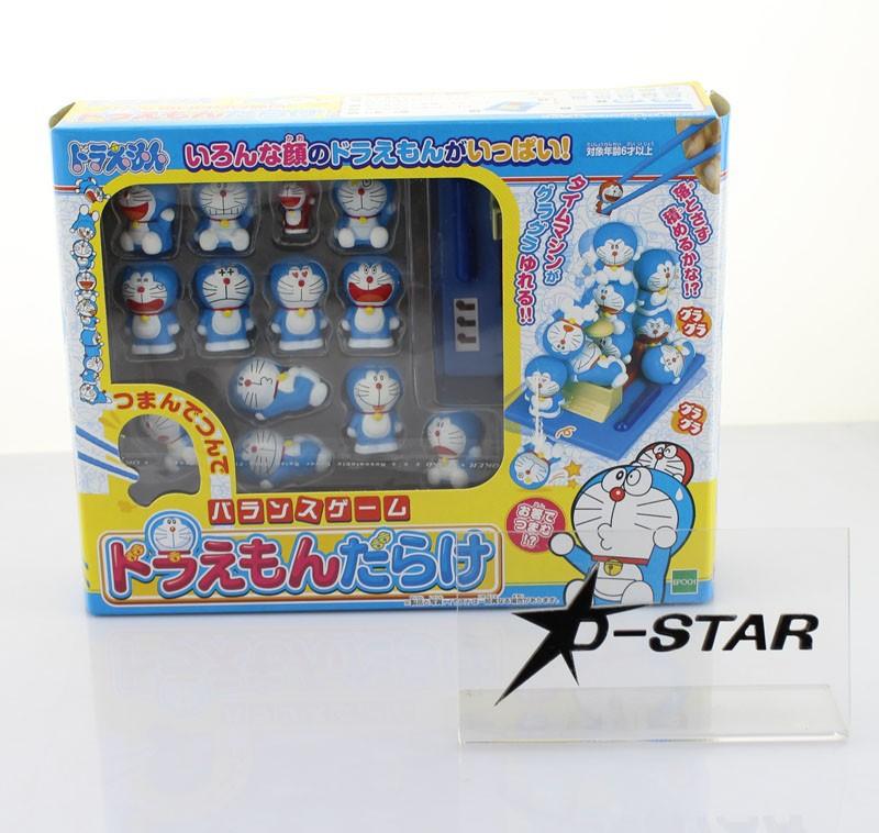 "EMS Shipping 12 sets New ""Doraemon full"" Pick Piled Balance Game Chopsticks Practice Decoration Figure Collection Model Toy(China (Mainland))"