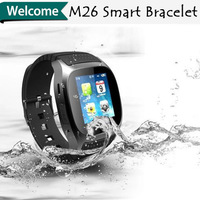 2014 New Band M26 fashion smart watch waterproof sports phone call speaker bluetooth watch for iphone 6 free shipping