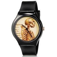 2015 new fashion Willis Mini 5166 women fashion watch Skull Pattern Design Water Resistant Analog Wrist Watch