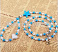 Free shipping 2pcs Stars Acrylic Beads Dogs  Leash Cat Pet Leash collar 3 colors