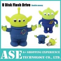 Retail cartoon funny toy story Aliens USB Flash Drives thumb pendrive memory stick u disk 2GB 4GB 8GB 16GB 32GB Free shipping