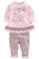 5set/lot wholesale long sleeve 2pcs set gril kids cartoon t-shirt pants clothes ,caasul sets child clothes
