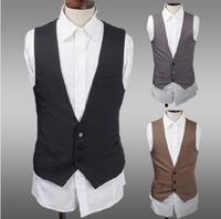 2014 men new fashion individual slim vest for suit size M-XL