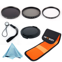 2014 New K&F Camera 58MM UV+CPL+ND8 Filter Set for Nikno d5200 Canon T4i Lens Kits Free Shipping